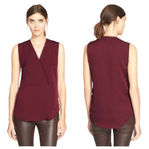 Theory Modern Georgette Taneah Sleeveless Blouse